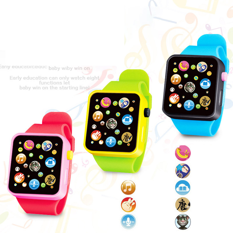 Toys Educational-Watch Teaching Birthday-Gift Intelligent Music Baby Children's 3D 6-Colors