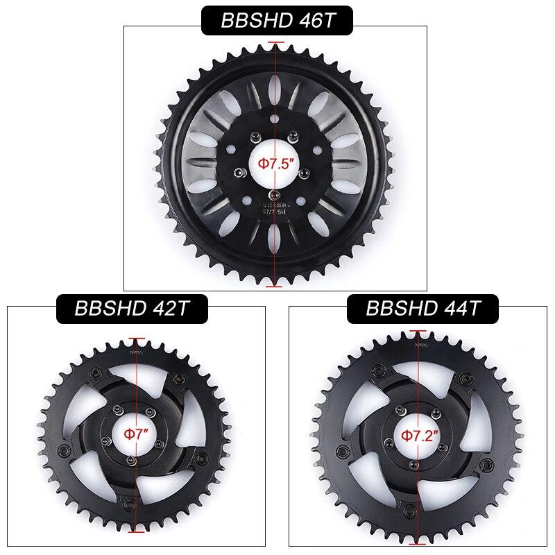 42T 44T 46T Chainwheel for Bafang 8fun Mid Drive Motor BBSHD BBS03 Chain Ring Sprocket Wheel
