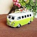 Collectible Vintage Retro Van Modelo De Brinquedo de Metal Decoração Modelos Educacionais Veículo Criativo Presente de Aniversário de Natal Toy Coleção