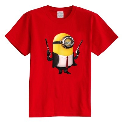 Children's T shirt summer short sleeve cartoon little yellow people Despicable Me cartoon 100% cotton boy girl kid t shirt