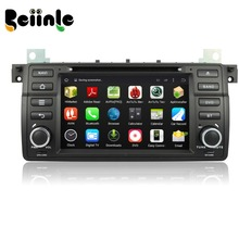 Beiinle  Android 4.4.4 Car 2 Din 1024*600 QUAD CORE  DVD GPS Radio Stereo Navigator for BMW 3 Series E46 17 PIN 40 PIN / M3