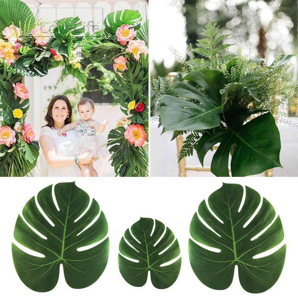 Leaves Decoration: 12pcs Artificial Leaf Tropical Palm Leaves Simulation Leaf