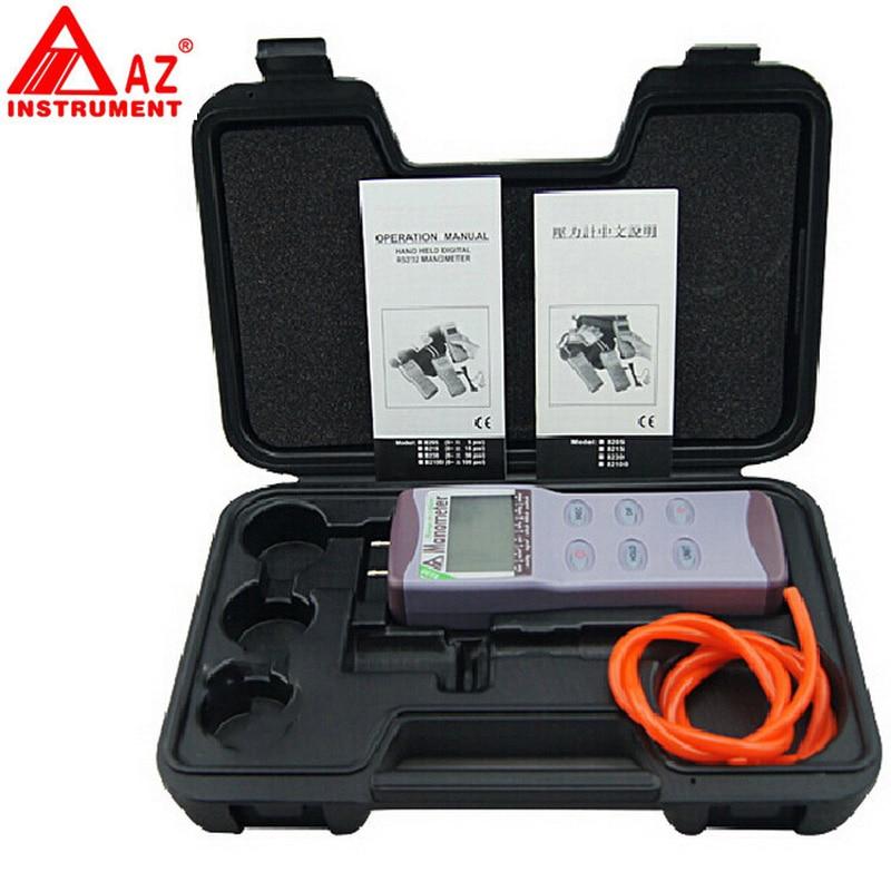 цена на AZ8230 digital pressure meter, differential pressure manometer pressure manometer digital meter measuring pressure 0~+/-30PSI