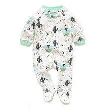 Baby Boys Girls Long Sleeve Romper Jumpsuit Playsuit Cactus Outfits Newborn Zipp