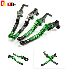 For KAWASAKI ZR750 ZEPHYR 1991-1993 1992 Motorcycle Folding Extendable CNC Moto Adjustable Clutch Brake Levers Up with logo