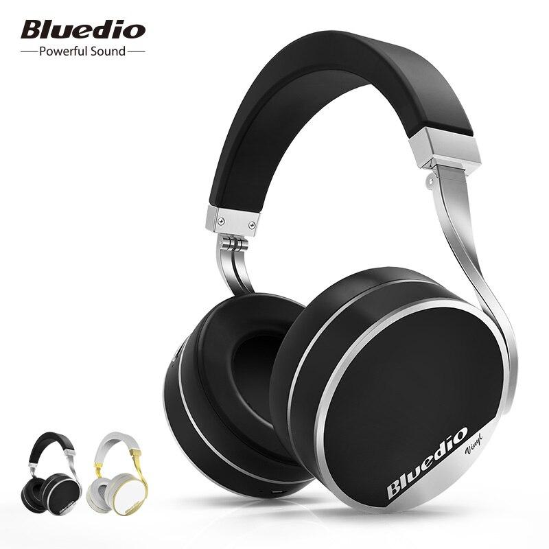 Bluedio Vinyle Plus bluetooth casque sans fil sur l'oreille casque avec microphone pour la musique téléphone casques