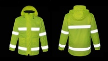 Thermal Outdoor Construction site visitors swimsuit Reflective security Cotton-padded garments Thickening double layers labor security clothes