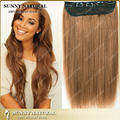 Cheap Human Hair One Piece Clip in Extension Straight Stlyling 5 Clip in Hair Extensions One Piece #8 Dark Brown 10inches-26inch