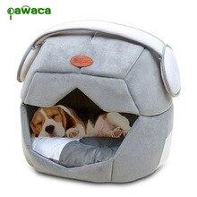 Pet гнездо 2 использует складной мягкий теплый пространство Шлем Pet кошка собака кровать для собак пещера щенок спальный коврик ОДЕЯЛКО-«гнездо» для кошек дом