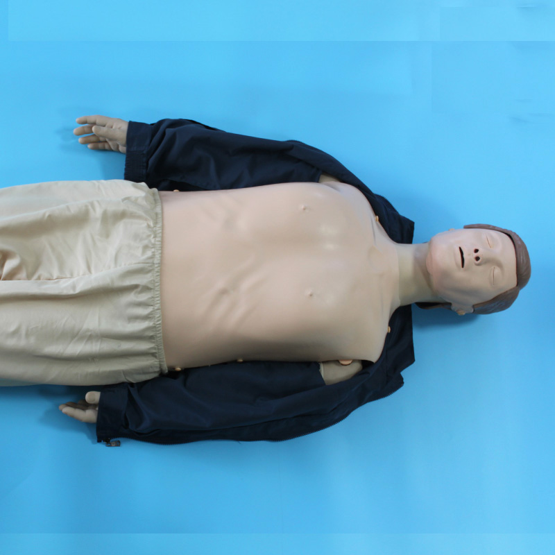 BIX/CPR480 First Aid Medical Manikin Advanced Multifunctional CPR Training Model 2017 firs t aid training medical models cpr adult obstruction model