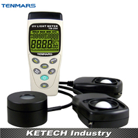 3 в 1 Многофункциональный Мониторы Защита окружающей среды, UVA intensitometer, Люкс метр, солнечный Мощность метр TENMARS tm 208