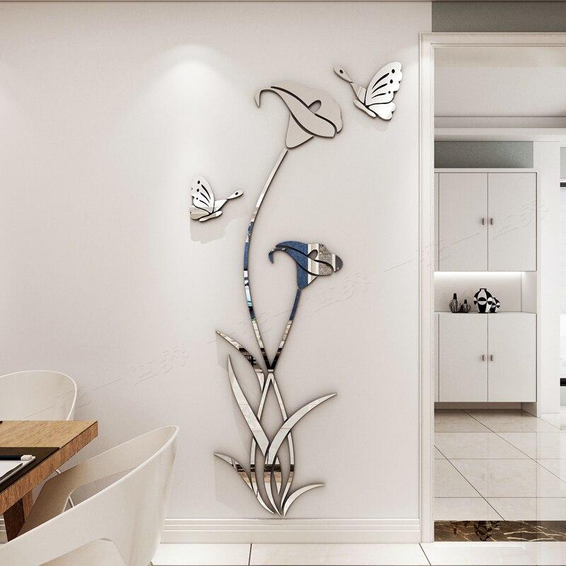 Buy kedode lily crystal acrilico 3d wall stickers soggiorno camera da letto - Wall stickers camera da letto ...