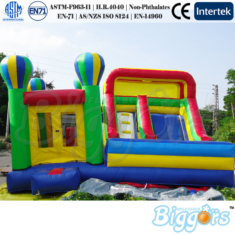 2018 Inflatable Bounce House With Slide Combo For Kids Funny Game inflatable pool slide funny water slide combo dual slides