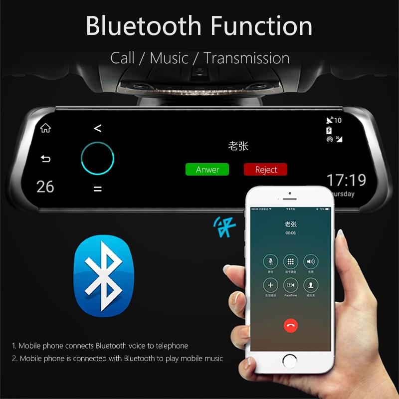Jansite 10 4G wifi Автомобильный видеорегистратор сенсорный экран двойной объектив Универсальный Android gps навигация зеркало заднего вида Автомобильные камеры ADAS Bluetooth - 5