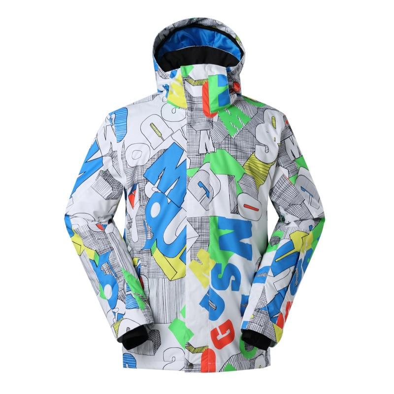 GSOUSNOW men's ski suit jacket single board spolyester kiing Jacket Mens Cotton warm windproof waterproof hiking snow jacket все цены
