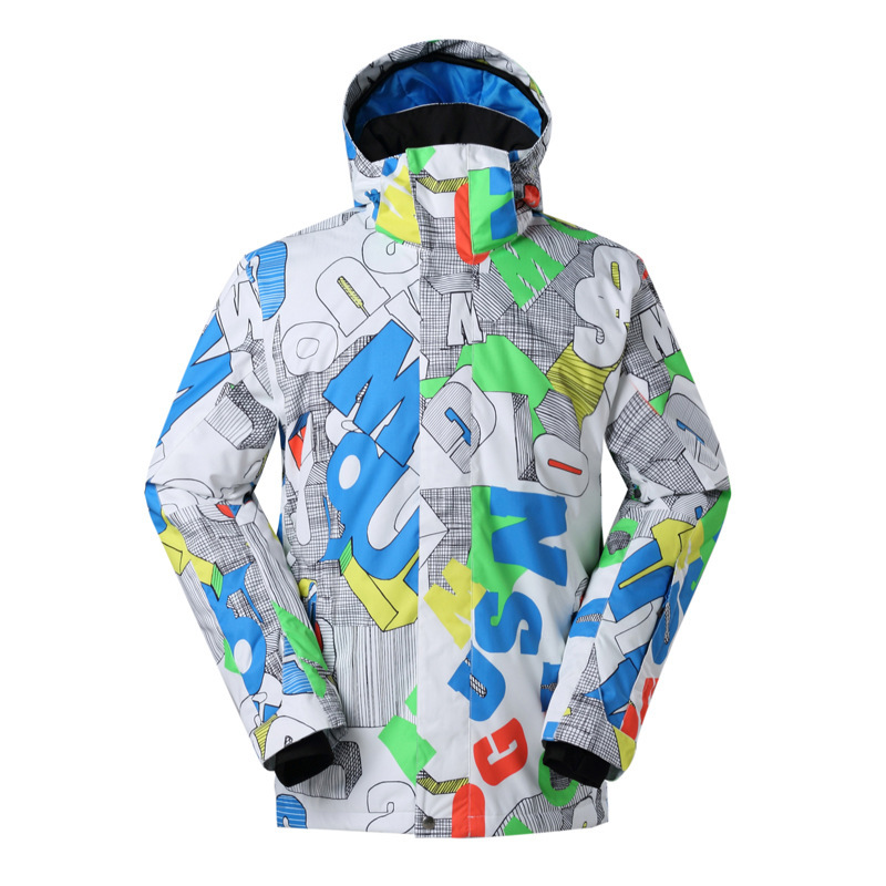 GSOUSNOW veste de ski homme planche unique spolyester kiing veste hommes coton chaud coupe-vent imperméable randonnée veste de neige