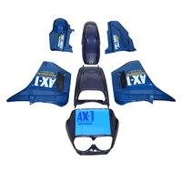 LOPOR ABS Пластик обтекатель клобук кузов комплект для Honda NX250 AX 1 Спортивные траверс Синий Новый