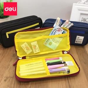 Image 3 - Deli trousse à crayons kawaii pour enfants, papeterie à la mode, fournitures de bureau pour enfants étudiants 1 pièce, porte crayon 2017
