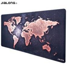 JIALONG большой игровой коврик для мыши XXL нескользящая резиновая база коврик для мыши водостойкий для компьютера ПК клавиатура Коврик для мыши карта мира