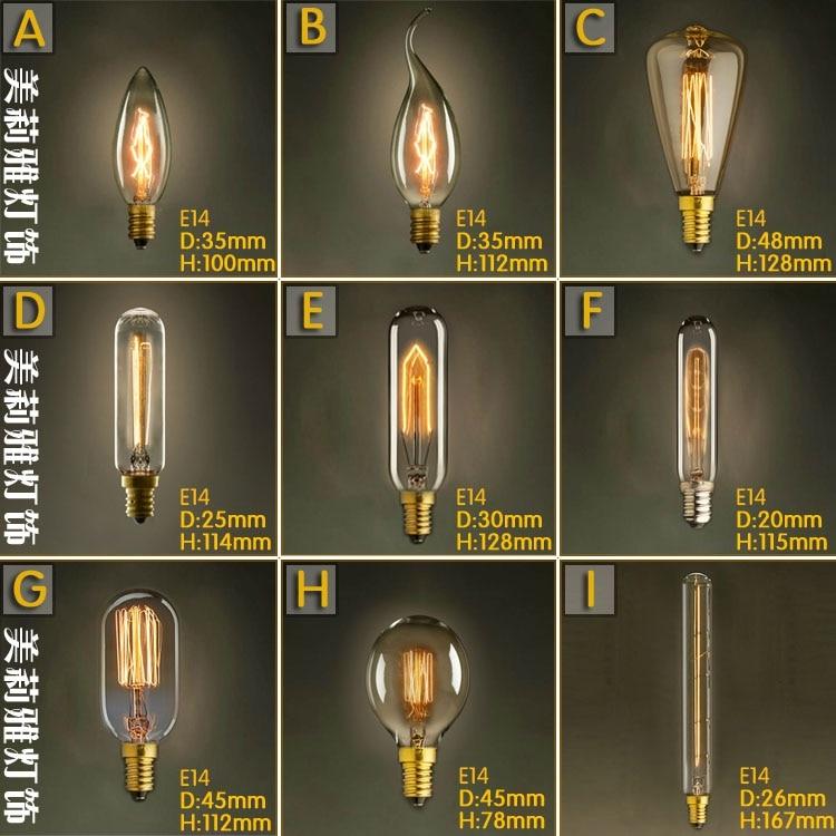 Lâmpadas Incandescentes 220 v lâmpada retro edison Modelo Número : T45/c35.....
