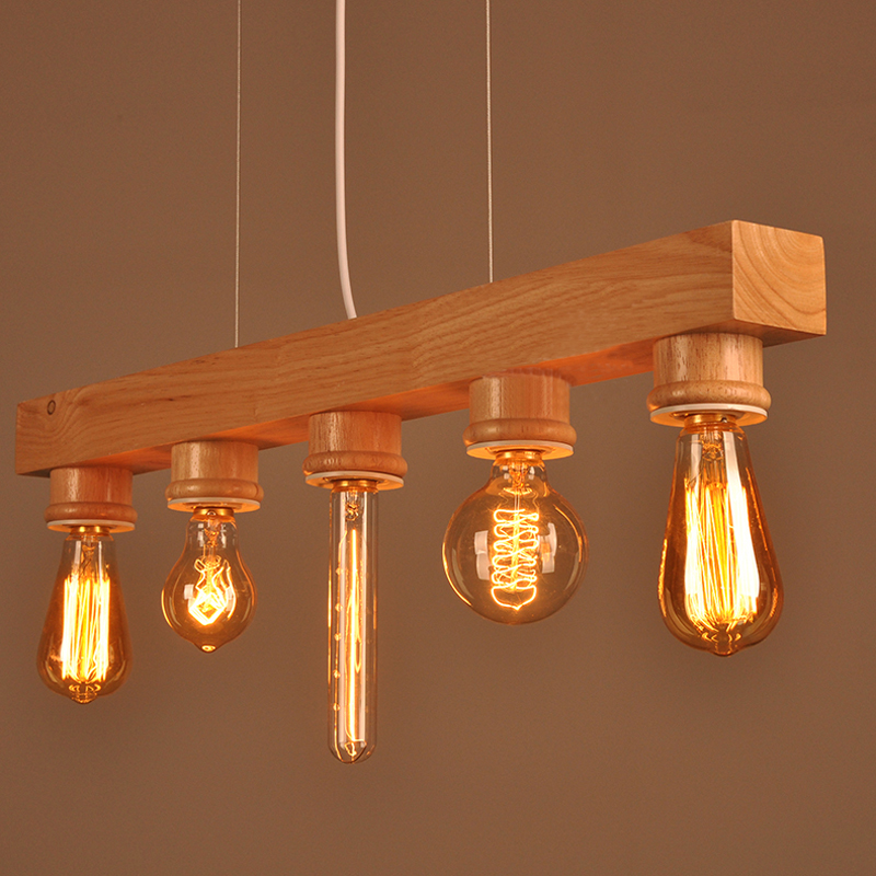 ФОТО Wooden Wood affordable white nordic suspension luminaire art deco interior lightings