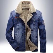 S 4XL men Add wool jacket and coats brand clothing denim jacket Fashion mens jeans jacket