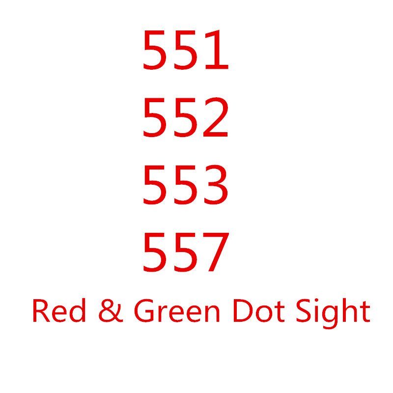 557 Series Of Products Red&Green Dot Sight Rifle Scope With 20mm Rail Mounts For Airsoft Holographic Sight RL5-0027