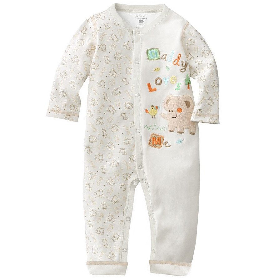 Cotton Long Baby   Romper   Pajamas Newborn Sleepwear Baby Boy Clothes months jumpsuits baby costume pijama infantil roupa de bebe