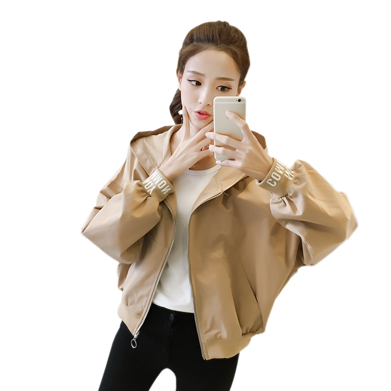 Clothing Trench-Coat Short Hooded Spring Youth Autumn Korean Plus-Sizes Women for Student