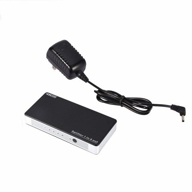 HD 4 К x 2 К 3D 1080 P 1 в 4 из HDMI Splitter 5 Портовый Концентратор Box Авто Ultra HD Switcher С США/ЕС/ВЕЛИКОБРИТАНИЯ/AU Адаптер Питания