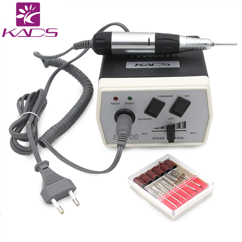 35W Black Pro Electric Nail Art Drill Machine Nail Equipment Manicure Pedicure Files Electric Manicure Drill