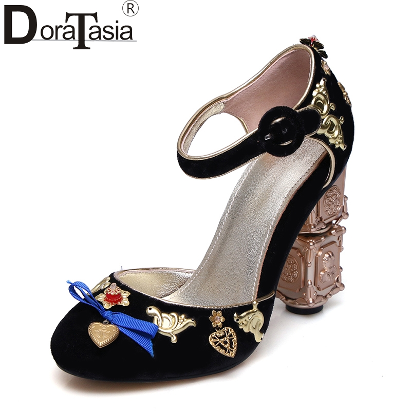 DoraTasia New Brand Large Size 34-43 Classic Ethnic Pumps Women Fashion Elegant High Heels Shoes Woman Princess Style акустика центрального канала piega classic center large macassar high gloss