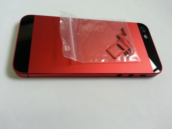 Replacement Black Red Back Housing Middle Frame Metal Cover iPhone 5 - External Phone Accessories store