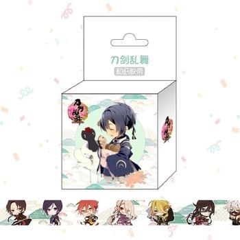 1.5cm*5m Touken Ranbu Anime Washi Tape Adhesive Tape DIY Scrapbooking Sticker Label Masking Tape uwowo izuminokami kanesada cosplay touken ranbu online anime men costume touken ranbu cosplay izuminokami kanesada