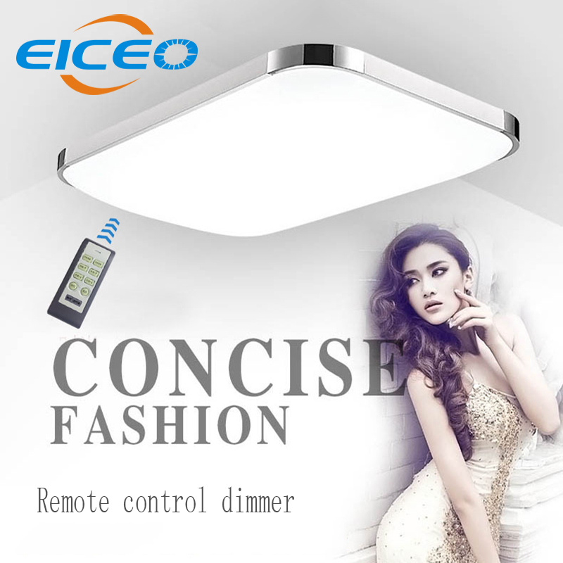 (EICEO)LED Ceiling Lamp Modern Minimalist Rectangular Living Room Bedroom Restaurant Lighting Remote Control Dimmer iphone style