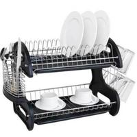Multi function double bowl and plate and chopsticks and spoon collection shelf kitchen Organizer Rack