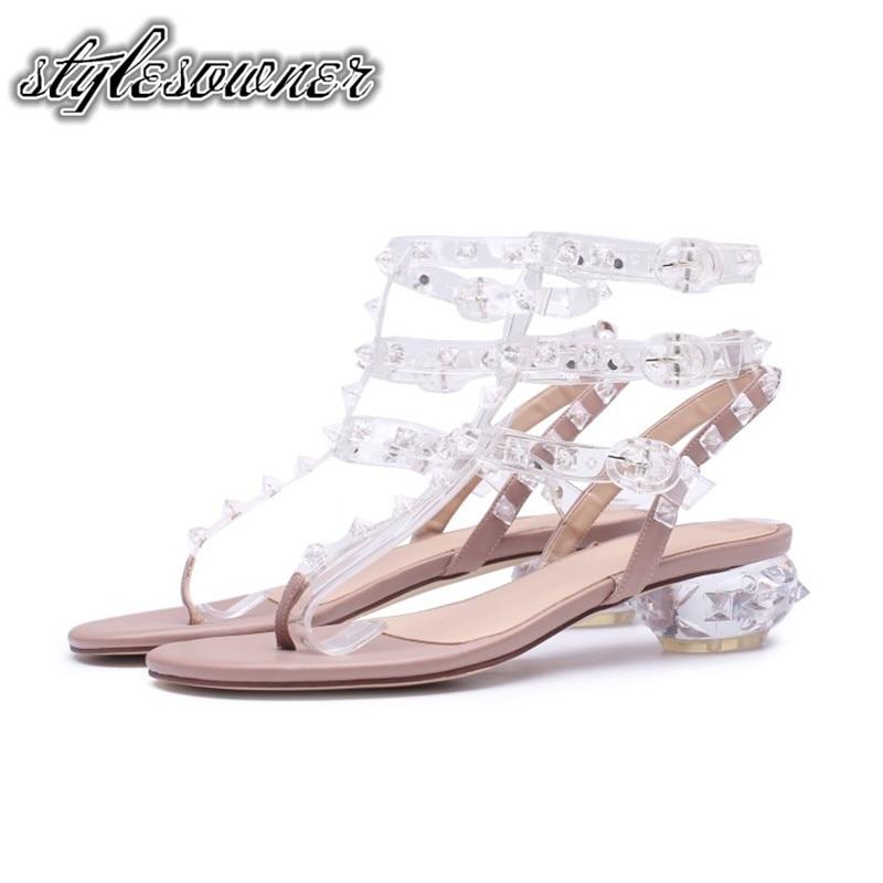 Stylesproprio Original marque Top Design avec des talons en cristal femmes sandales en cuir de vache belle pour jeune femme sandales à bout ouvert