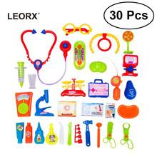 A Set of 30pcs Baby Doctor Tools Medical Role Play Pretend Play Toys Tools Kits for Kids Boys Girls Cosplay Toddlers(China)