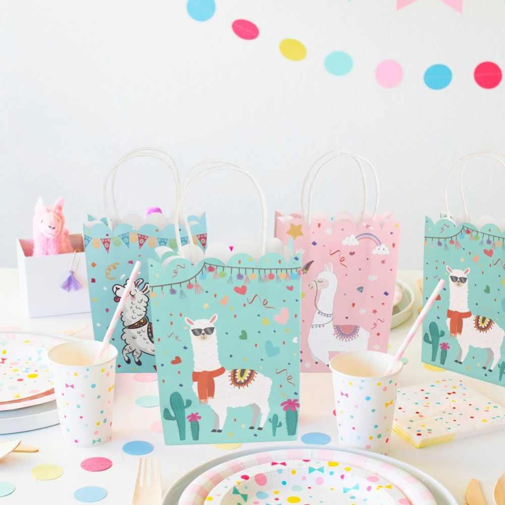 Ourwarm 48 шт. Подарочная коробка с ручками, Подарочная коробка, Подарочная коробка, детский душ подарки для гостей, вечерние украшения ламы на день рождения