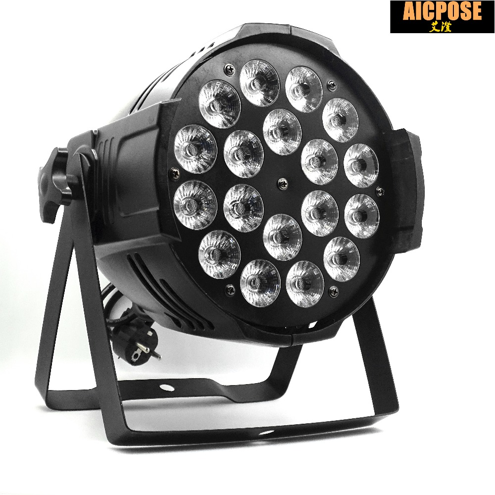 20pcs/lot 18*12w Light Aluminum LED Par 18x12W RGBW 4in1 LED Par Can Par 64 led spotlight dj projector wash lighting stage light