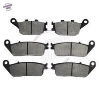 6 Pcs Motorcycle Front Rear Brake Pads Case For HONDA CB 750 N SEVEN FIFTY 1992