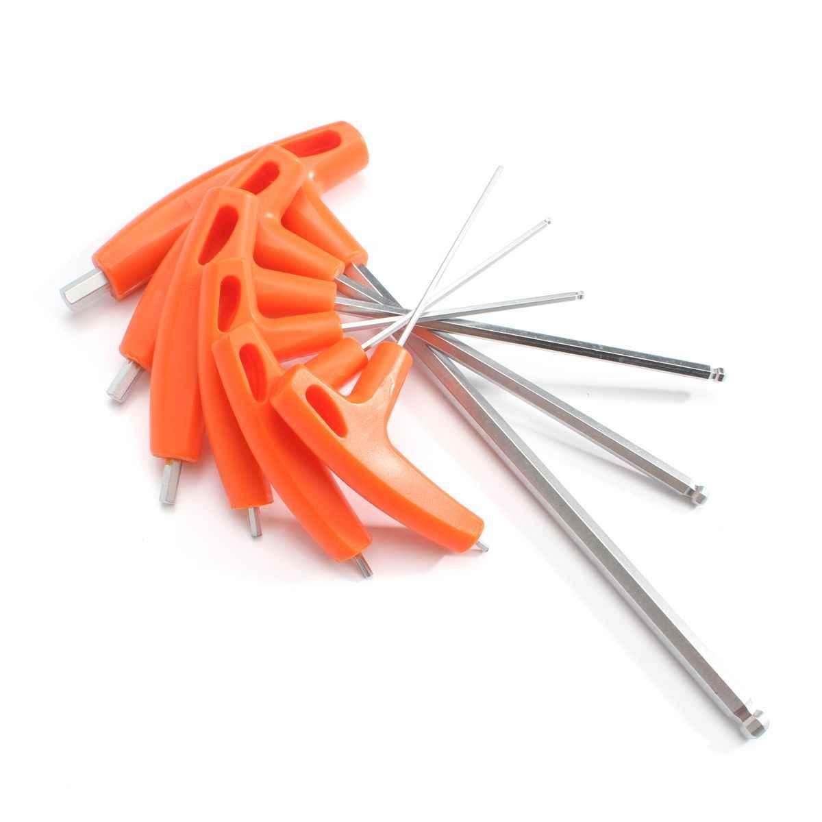 Doersupp 6 шт./компл. H2-H8mm T ручка гаечные ключи Набор шестигранных ключей длинный Reach Allen Отвертка гаечный ключ инструмент 2 \ 2,5 \ 3 \ 5 \ 6 \ 8 мм