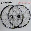 Горячее колесо! PASAK P19 26 27 5 29 MTB горный велосипед  велосипед с ЧПУ  передний 2 задний 4 герметичных подшипника  32 отверстия  диск  колесо