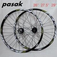 Горячие колеса! Пасак P19 26 27,5 29 MTB горный велосипед ЧПУ спереди 2 сзади 4 подшипники 32 отверстия диск колесная