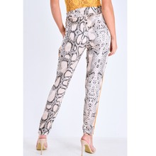 2018 New Snake Printed Harem Pants Casual Women Patchwork Pockets Trousers