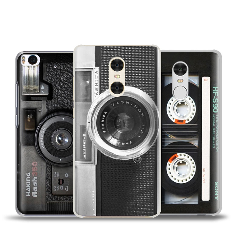 Retro Dual Camera Magnetic Tape Phone Case Shell For Xiaomi Redmi Note 2 3 4 4X 5A 5 Pro Mi 8 5 5S Plus 5X 6 MiA1 Minote 2 3