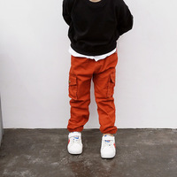 Autumn Pants For Boys Cotton Baby Boys Cargo Pants Children S Solid Trousers Black Red With