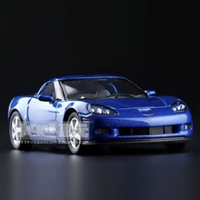 Simulasi Tinggi Indah Diecasts & Mainan Kendaraan: Kinsmart Mobil Styling Chevrolet Corvette Z06 Mobil Sport 1:36 Alloy Diecast Model
