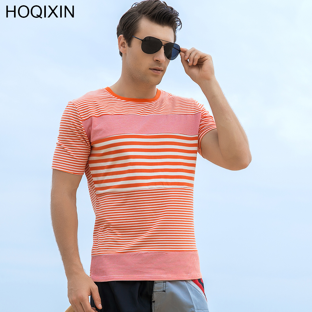 Men's Clothing T-shirts Nice 2018 Hoqixin New Arrival Summer Men T Shirt Striped Short Sleeve Men Casual T-shirt High Quality Plus Size Tops 705 With Traditional Methods