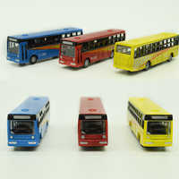 6pcs / lot 1:150 scale model car mini bus toy used for traffic construction road landscape urban layout